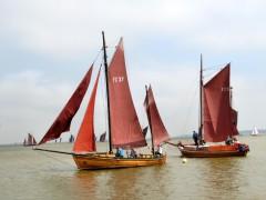 Zeesenboote auf dem Bodden